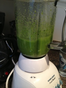 Blending Spinach + Kale