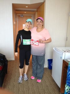My beautiful mother and I before the race!