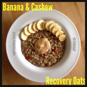 Banana and Cashew Recovery Oats